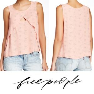 Free People Crinkle Look Though Tank Small